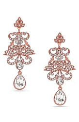 Nina Women's Swarovski Crystal Pear Drop Earrings