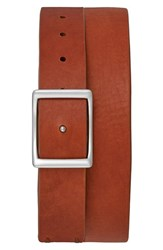 Shinola Men's Reversible Leather Belt Bourbon Navy