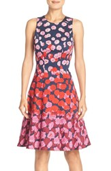 Women's Maggy London Floral Print Fit And Flare Dress