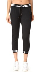 Beyond Yoga Varsity Cropped Sweatpants Black