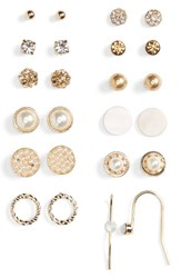 Women's Bp. 12 Pack Imitation Pearl And Crystal Earrings