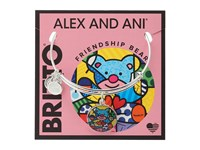 Alex And Ani Romero Britto Art Infusion Friendship Bear Shiny Silver Bracelet Metallic