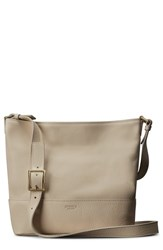 Shinola Small Relaxed Leather Hobo Bag Beige Stone