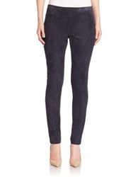 Lafayette 148 New York Punto Milano Suede Front Riding Leggings Ink