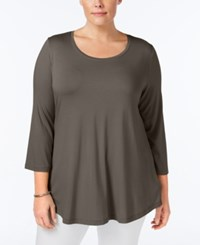 Jm Collection Plus Size Swing Top Only At Macy's Brown Clay