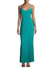 Laundry By Shelli Segal Cutout Gown Tropical Green