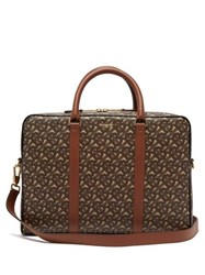 Burberry Ainsworth Tb Monogram Coated Canvas Briefcase Brown