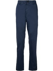 Bassike Slim Fit Trousers Blue
