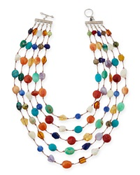 Carnival Five Strand Multi Stone Necklace Margo Morrison