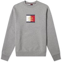 Tommy Jeans Flag Crest Logo Sweat Grey