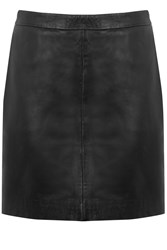 Oasis Faux Leather Mini Skirt Black