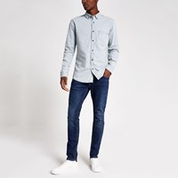 River Island Only And Sons Light Blue Denim Shirt