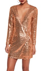 Missguided Women's Sequin Blazer Wrap Dress