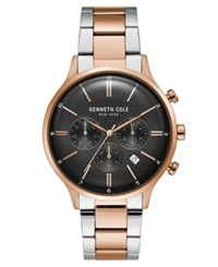 Kenneth Cole New York Men's Two Tone Stainless Steel Bracelet Watch 42Mm Two Tone