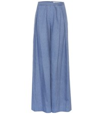 Carolina Herrera Wide Leg Jeans Blue