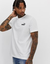 Puma Essentials T Shirt With Small Logo In White