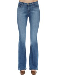 J Brand Valentina High Rise Flared Denim Jeans Blue