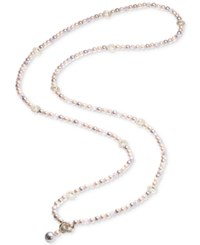 Carolee Gold Tone Pave Ring And Pink Imitation Pearl Convertible Strand Necklace Md Pink