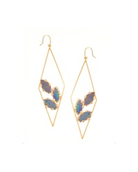 Prix Diamond Shape Opal Hoop Earrings Lana