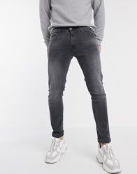 Replay Titanium Skinny Fit Jeans In Grey