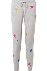 Chinti And Parker Acid Star Cashmere Track Pants Gray