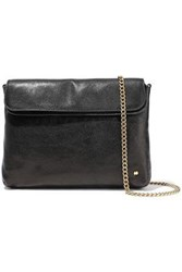 Halston Heritage Woman Tina Convertible Pebbled Leather Clutch Black