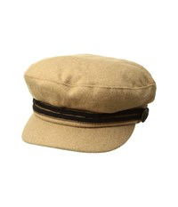 Vince Camuto Officer's Newsboy Tan Caps