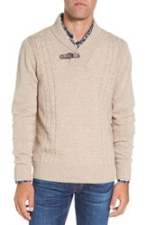 Singer Sargent Men's Shawl Collar Cable Knit Wool Sweater