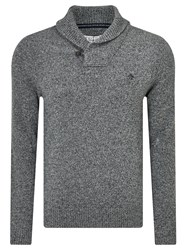 Original Penguin Shawl Neck Lambswool Blend Jumper Dark Shadow
