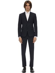 Giorgio Armani Dandy Single Breasted Wool Suit Navy