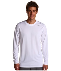 Nike Legend Dri Fit Poly L S Crew Top White Men's Workout