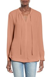 Women's Astr 'Dawn' Split Neck Blouse