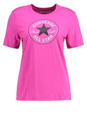 Converse Core Solid Chuck Patch Print Tshirt Magenta Glow Pink