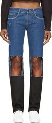 Filles A Papa Blue Cut Out Ryan Jeans