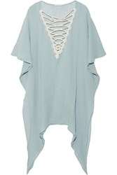 Eberjey Sea Breeze Isadora Cotton Gauze Dress Sky Blue
