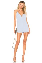 By The Way Kylan Double O Ring Romper Blue
