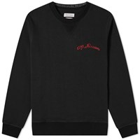 Alexander Mcqueen Chain Stitch Logo Crew Sweat Black