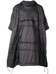 Stone Island Quilted Poncho Coat Grey