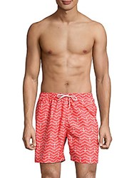 Trunks San Printed Swim Shorts Spicy Coral