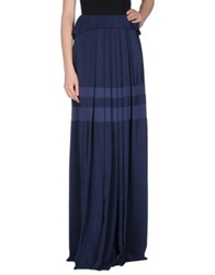 Philosophy Di Alberta Ferretti Long Skirts Dark Blue