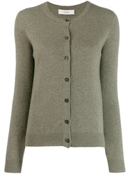Pringle Of Scotland Round Neck Cardigan Green
