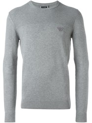 Armani Jeans Crew Neck Jumper Grey