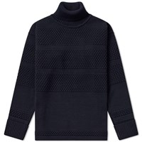 S.N.S. Herning Fisherman Roll Neck Sweat Blue