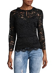 Marc By Marc Jacobs Embroidered Floral Lace Blouse Black