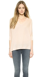 Minnie Rose Must Have Cashmere Sweater Pink Diamond