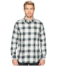 Nautica Long Sleeve Wrinkle Resistant Large Plaid Lakeside Green Men's Clothing White