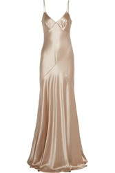 Amanda Wakeley Silk Satin Gown Nude