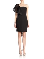 Milly Cascading Ruffle Dress Black