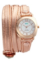 La Mer Women's Collections Odyssey Leather Wrap Strap Watch 25.4Mm