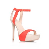 Carvela Gown High Heel Strappy Sandals Orange